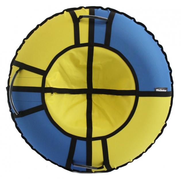 Тюбинг Hubster Хайп голубой желтый 90 см