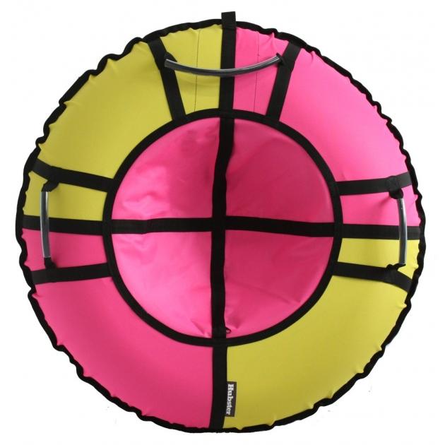 Тюбинг Hubster Хайп желтый розовый 120 см