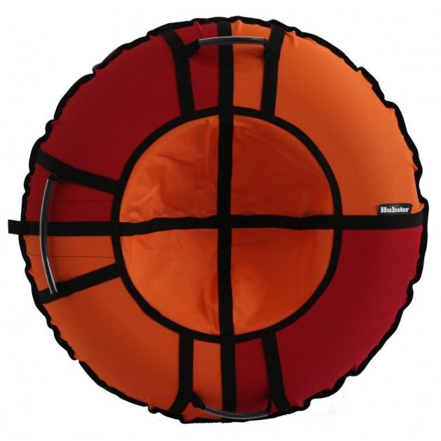 Тюбинг Hubster Хайп красный оранжевый 120 см