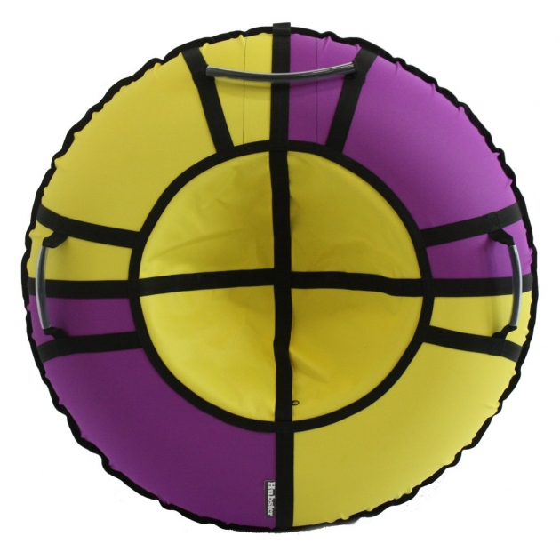 Тюбинг Hubster Хайп фиолетовый желтый 120 см
