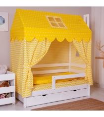 Комплект для кроватки Incanto Домик жёлтый