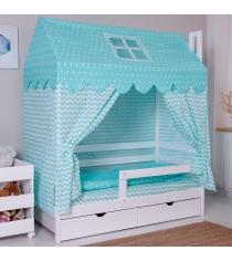 Комплект для кроватки Incanto Домик мятный