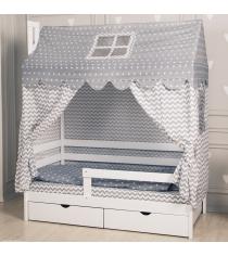 Комплект для кроватки Incanto Домик серый