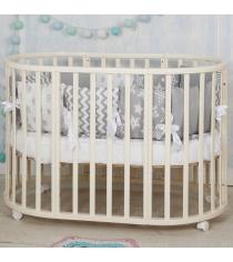 Круглая кроватка Incanto Mimi deluxe 7 в 1 слоновая кость