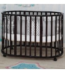 Круглая кроватка Incanto Mimi deluxe 7 в 1 венге