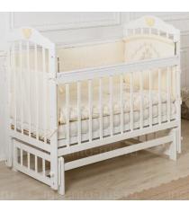 Кроватка Incanto Pali поперечный маятник белый