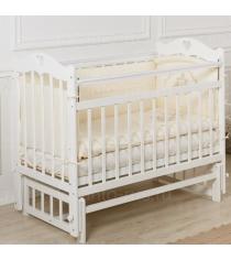 Кровать Incanto Sofi продольный маятник белый