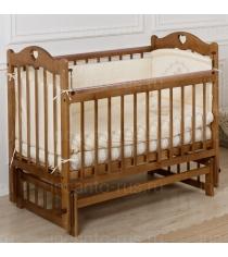 Кровать Incanto Sofi продольный маятник орех