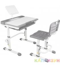 Парта трансформер со стулом Капризун A7-grey