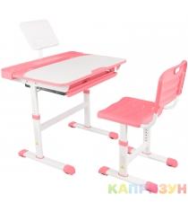 Парта трансформер со стулом Капризун Q8-pink