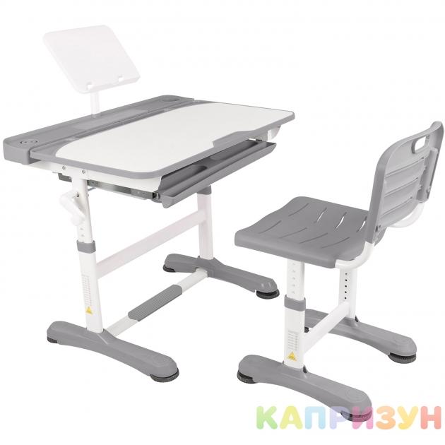 Парта трансформер со стулом Капризун R8-1-grey