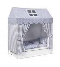 Детское постельное белье Капризун домик Серый...