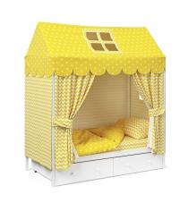 Детское постельное белье Капризун домик Желтый...