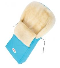 Меховой конверт Кроха Classic Light Blue XI