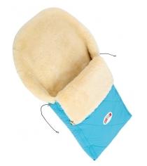 Меховой конверт Кроха Double Light Blue XI