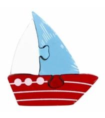 Деревянный детский пазл Mapacha Кораблик 3 детали 76437