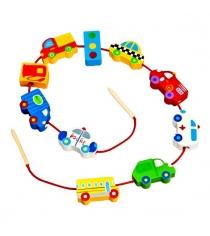 Развивающая игрушка Mapacha Шнуровкабусы Транспорт 76514