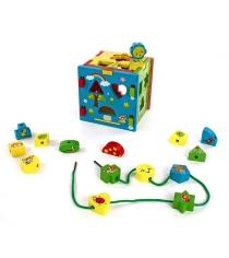 Развивающая игрушка Mapacha 3 в 1 Радужный кубик 76644