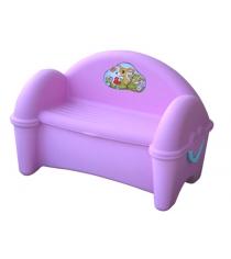 Пластиковый стульчик для улицы скамейка ящик 379 Marian Plast...