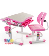 Детская парта и стульчик Mealux EVO-05 PN