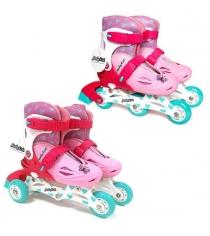Коньки роликовые Moby Kids 2в1 размер 30-33 розовые