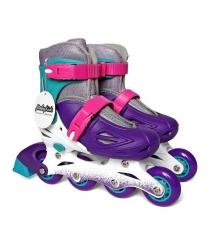 Коньки роликовые Moby Kids размер 34-37 фиолетовые