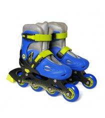 Коньки роликовые Moby Kids размер 26-29 сине-зеленые