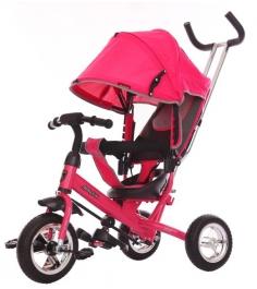 Трёхколёсный велосипед Moby Kids Start EVA розовый