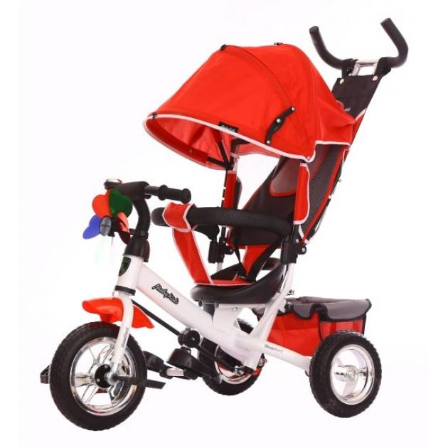 Детский трёхколёсный велосипед Moby Kids Comfort 10х8 EVA красный
