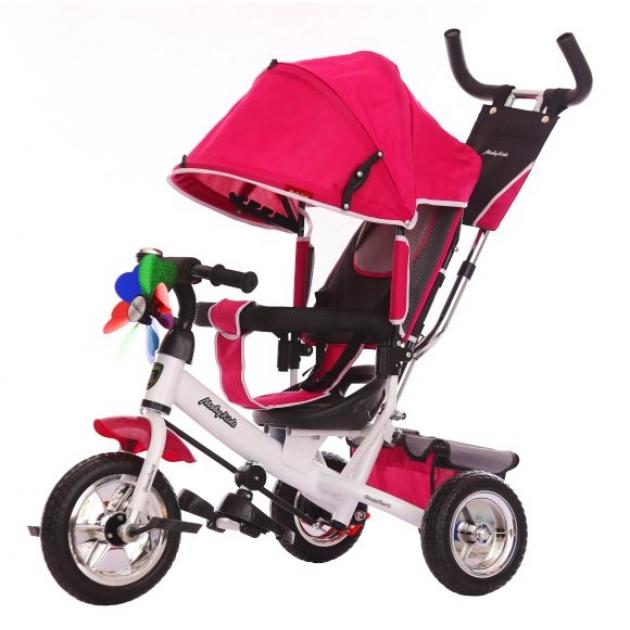 Детский трёхколёсный велосипед Moby Kids Comfort 10х8 EVA вишневый