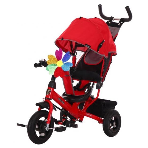 Детский трёхколёсный велосипед Moby Kids Comfort 10х8 AIR красный