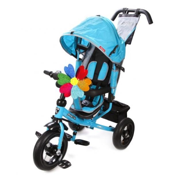 Трёхколёсный велосипед Moby Kids Comfort AIR бирюзовый