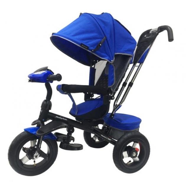 Трёхколёсный велосипед Moby Kids Comfort 360° синий