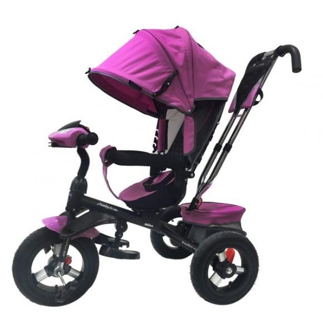 Трёхколёсный велосипед Moby Kids Comfort 360° лиловый
