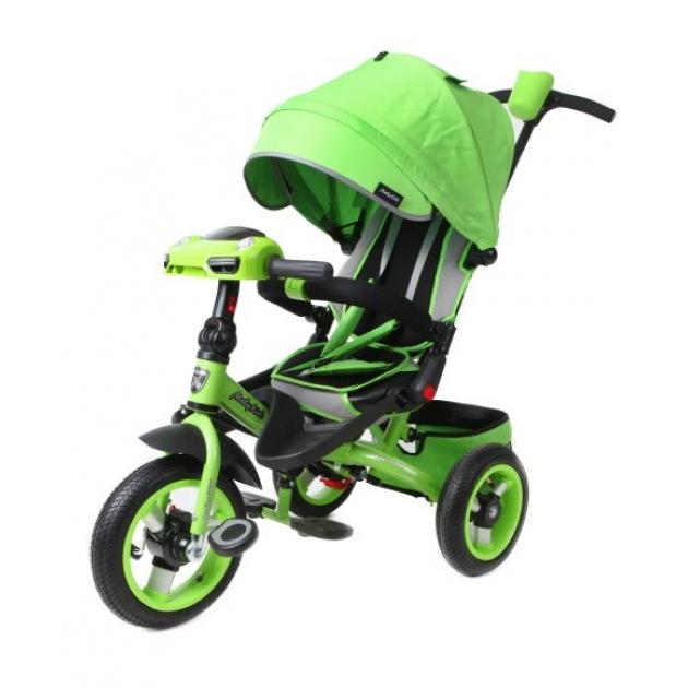 Трёхколёсный велосипед Moby Kids с разворотным сиденьем Leader 360° AIR Car зеленый