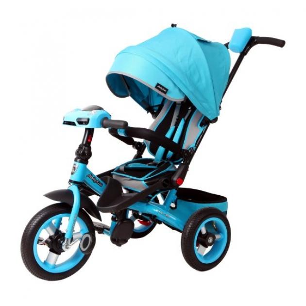 Трёхколёсный велосипед Moby Kids с разворотным сиденьем Leader 360° AIR Car бирюзовый