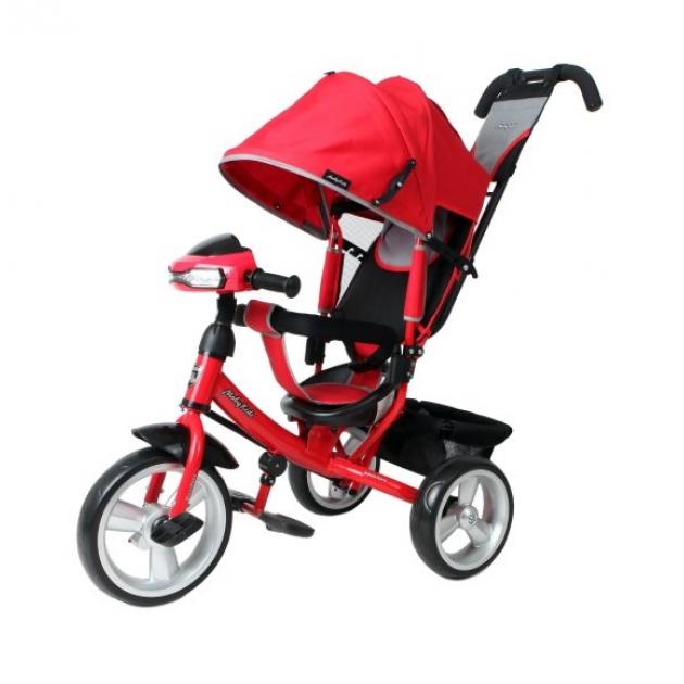 Трёхколёсный велосипед Moby Kids Comfort EVA Car красный