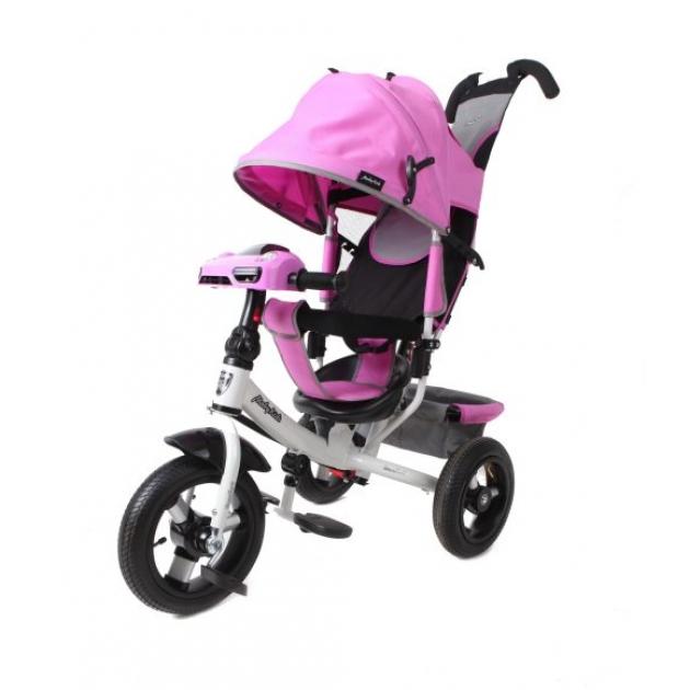Детский трёхколёсный велосипед Moby Kids Comfort 12х10 AIR Car лиловый