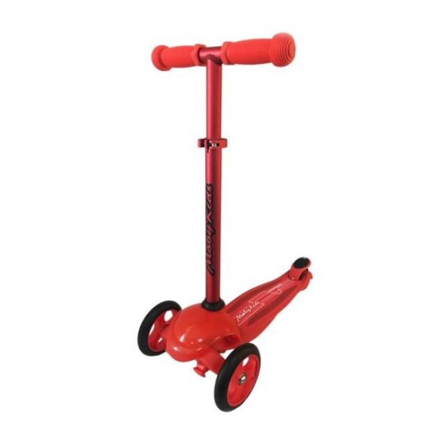 Самокат Moby kids с управлением наклоном рулевой стойки красный