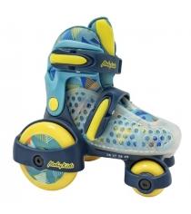 Роликовые коньки-квады Moby kids размер 26-29 синие