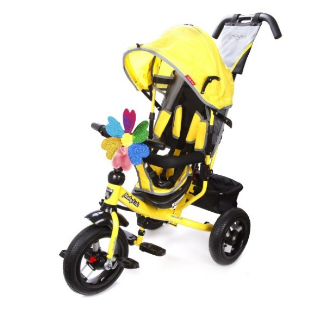 Трёхколёсный велосипед Moby Kids Comfort AIR  желтый