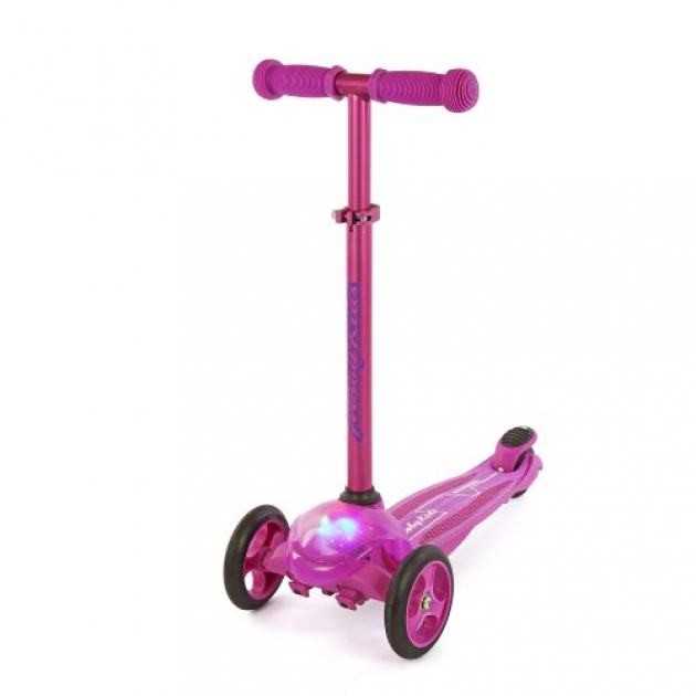Самокат Moby kids с управлением наклоном рулевой стойки пурпурный