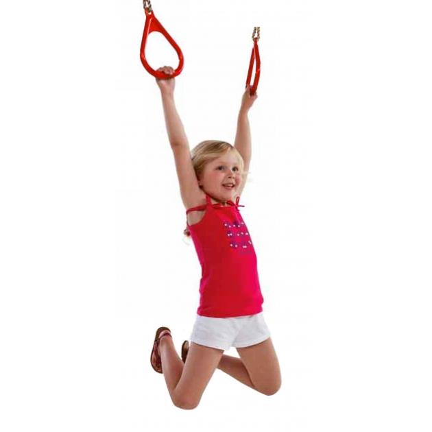 Пластиковые гимнастические кольца красные