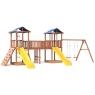 Детская площадка Спортивный городок 6 крыша тент с качелями и широким скалодромо...