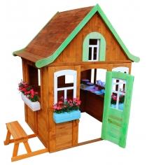 Домик Цветочный c кухней и цветочницами Р920-2 Можга красная звезда