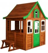 Детский домик Цветочный зеленый