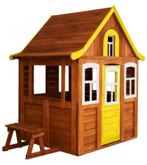 Детский домик Можга Цветочный желтый