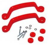 Пластиковые ручки красные