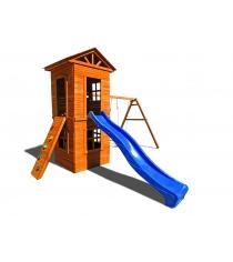 Детская площадка Можга Красная звезда Спортивный городок 8 c узким скалодромом