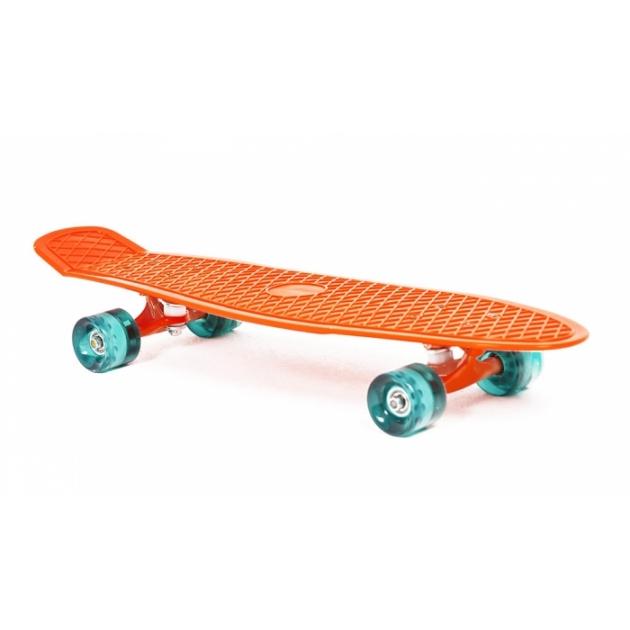 Скейт пластиковый Moove&Fun 27X8 дюймов оранжевый PP2708-1 orange